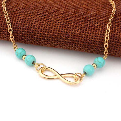 Infinity Anklet - Turquoise - Shop The Poetic Soul - Boho - Hippie - Chic Apparel & Accessories