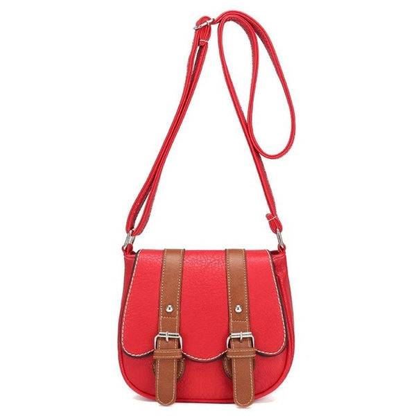 Retro Leather Crossbody-Purse-Red- Boho Chic - Free Spirit -The Poetic Soul