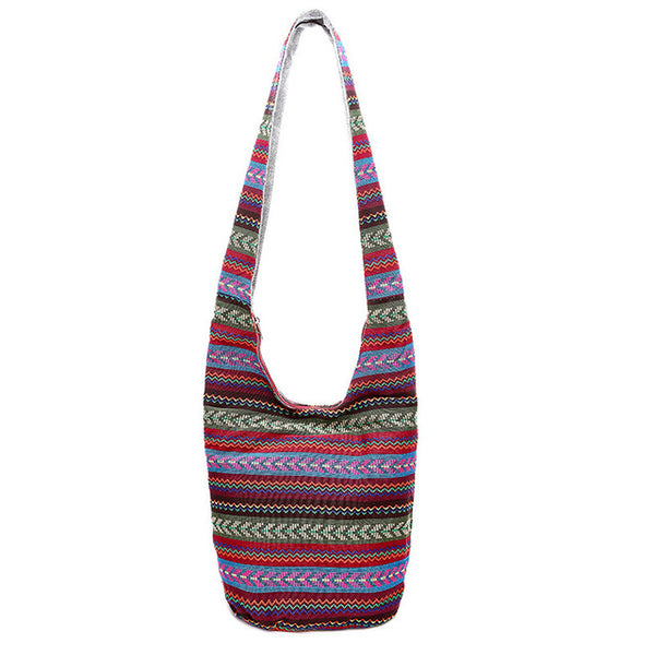 """Kiera"" Boho Crossbody Purse (4 Patterns Available)-Purse-red striped- Boho Chic - Free Spirit -The Poetic Soul"