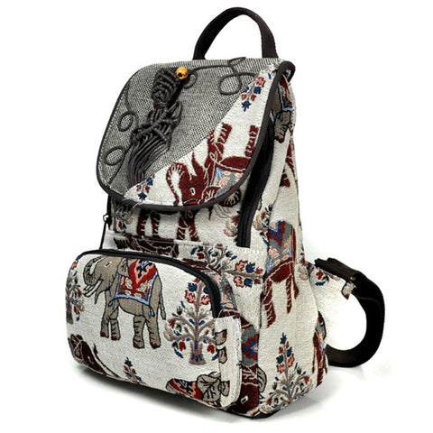 Boho Women Backpack Elephant-Purse- Boho Chic - Free Spirit -The Poetic Soul