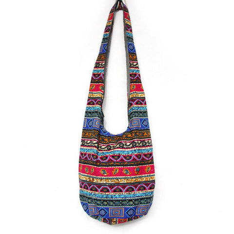 """Kiera"" Boho Crossbody Purse (4 Patterns Available)-Purse-Claret- Boho Chic - Free Spirit -The Poetic Soul"
