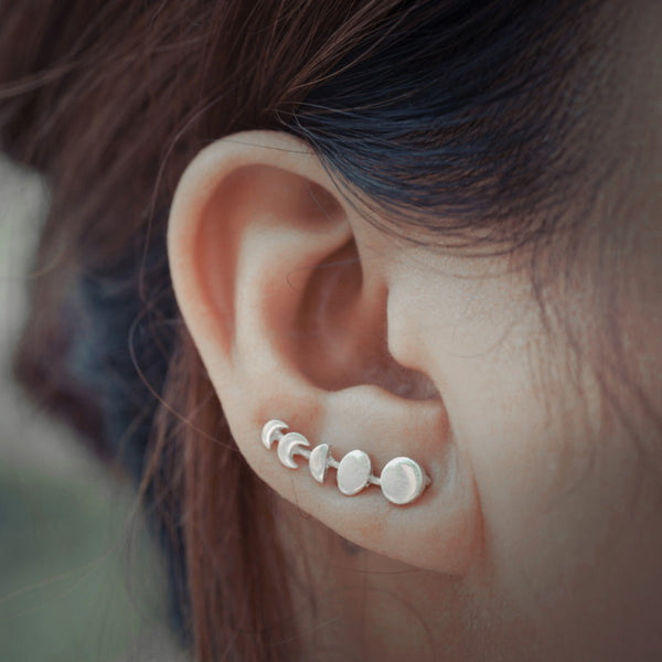 Moon Phases Climbers Earrings-Accessories-The Poetic Soul