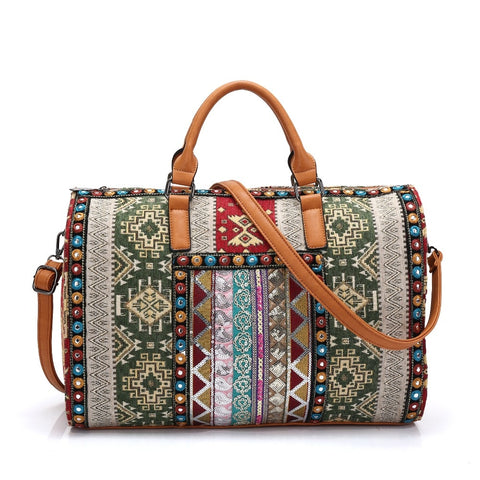 Bohemian bucket travel bag-bag-The Poetic Soul