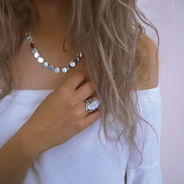 Marquise Moonstone Ring-Accessories -The Poetic Soul - Boho Style, Women's Clothing & Chic Accessories