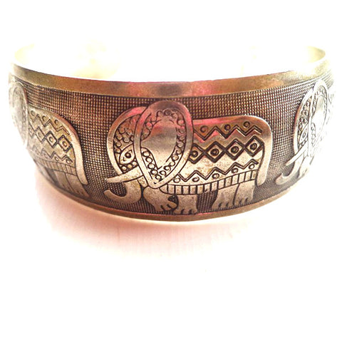 Elephant Love Cuff Bangle-Accessories- Boho Chic - Free Spirit -The Poetic Soul