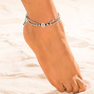 Vintage Shell Beads Anklets-Accessories-The Poetic Soul