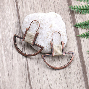 Creative Antique Boho String Geometric Dangle Drop Earrings-Accessories-The Poetic Soul