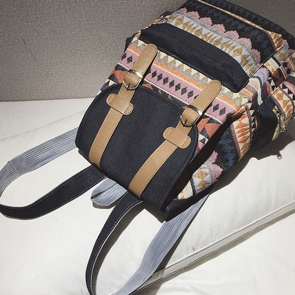 Tribal Ethnic Drawstring Backpack-bag-The Poetic Soul