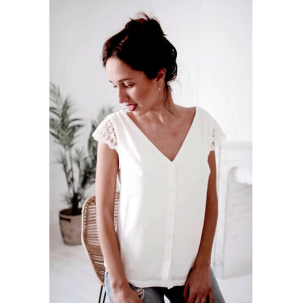 Summer Loose Chiffon Causal Short Sleeve Blouse-Shirts -The Poetic Soul - Boho Style, Women's Clothing & Chic Accessories