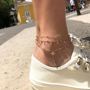 Bohemian Star Dust Fringe Chain Anklet-Accessories-The Poetic Soul