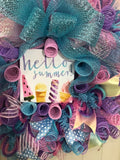 Summer Kids Birthday Party Decoration Ice Cream Wreath Cone Decor Fun Pastel Gift