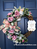 Blush Rose Mothers Day Grapevine, Spring Front Door