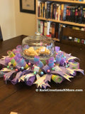 3 in 1 Spring Pastel Wreath, Candle Holder and Centerpiece.