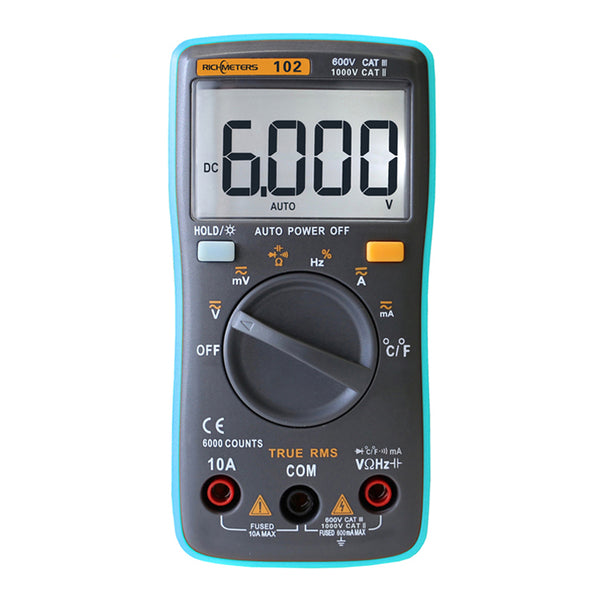 RM101 Multimeter 6000 counts Digital Display