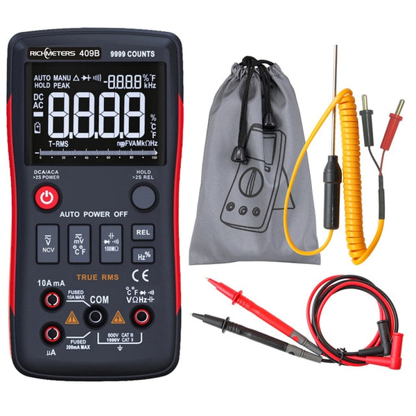 RM409B True-RMS Digital Multimeter Button 9999Counts With Analog Bar