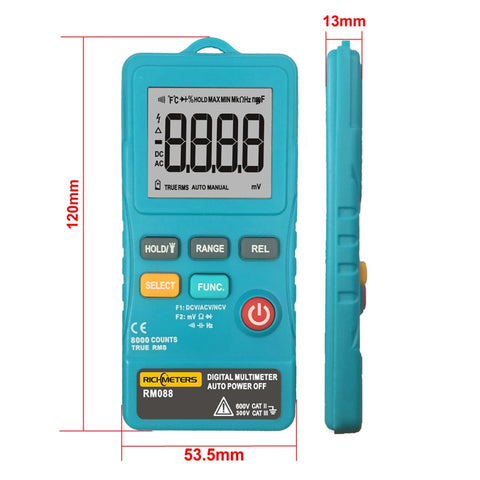 RM088 Mini ACDC Multimeter 8000 counts
