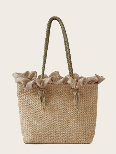 Plaited Detail Tote Bag