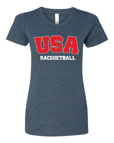 USA Racquetball Athlete Ladies T-Shirt