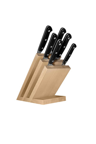 Magnetic kitchen knife block in beech Classic Line cod. 2084/CLA