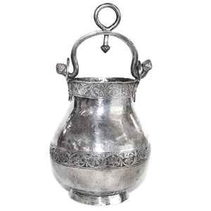 Antique Indian Silver Water Bucket, India – 18th Century