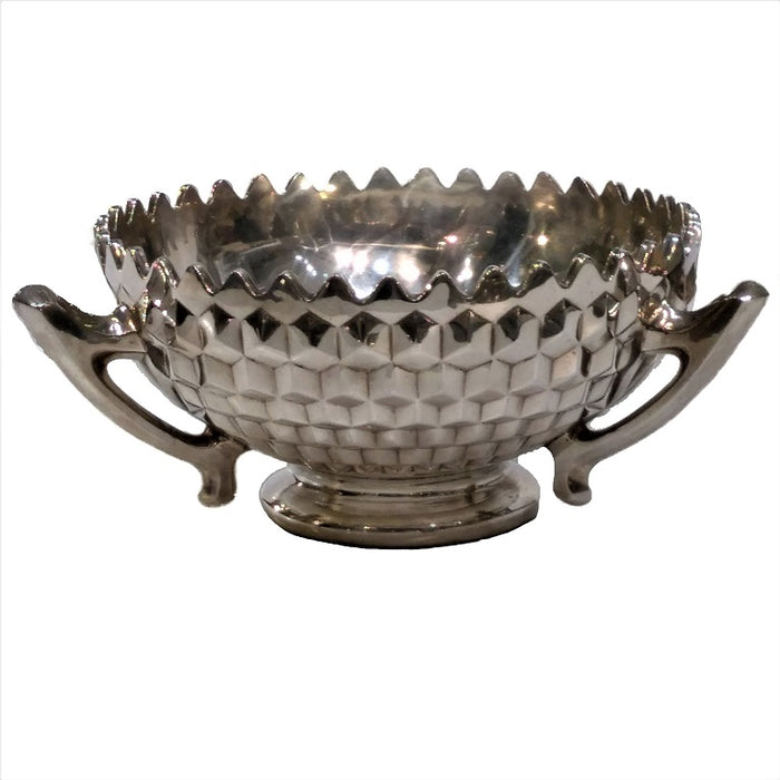 Antique Indian Silver Three Handled Punch Bowl, Large Size, Calcutta (kolkata) – Circa 1900