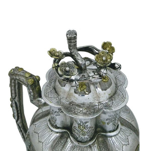 Antique Chinese Silver Parcel Gilt Wine Ewer, Rare Item, China – 17th/18th Century