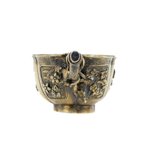 Antique Chinese Silver Gilt Libation Cup, Floriform, Crabstock Handle, Kangxi, China – Circa 1700
