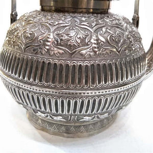 Very Rare And Large Sized Malay Silver Kettle, 1880/1900