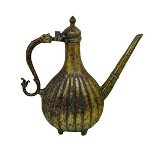 Antique Bronze Ewer Aftaba Mughal Inscription Northern India 18th Century