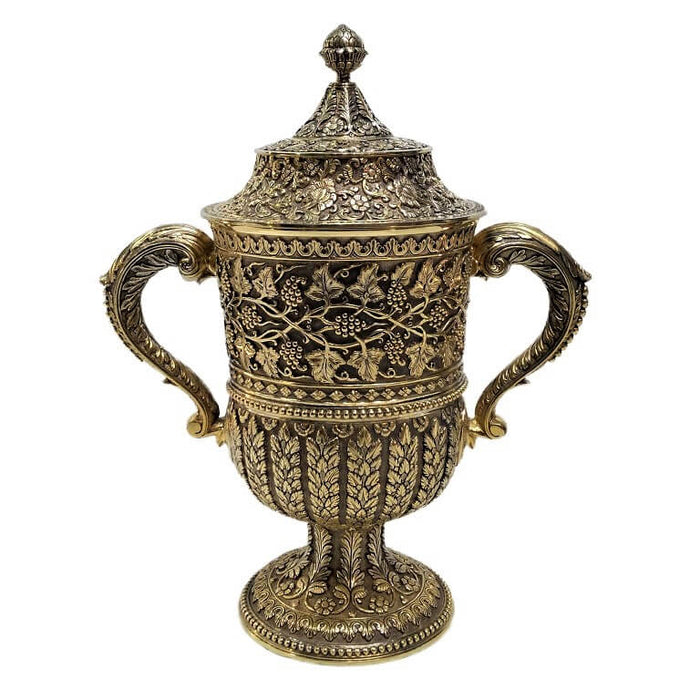 Antique English Silver Gilt Cup, Kutch Style, Hancocks & Co -1870