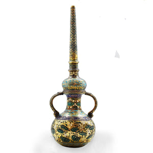Antique Indian Enamelled (Minakari) Oil Dispenser, India - 18th Century