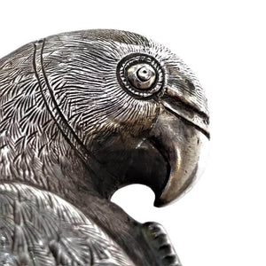 Antique Indian Silver Handle Parrot India C 1890