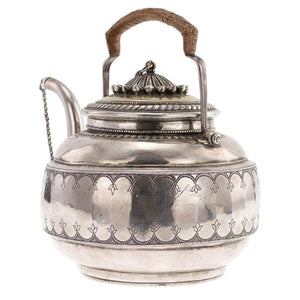 Antique Indian Silver Parcel Gilt Gold Tea Kettle India Early 18th Century