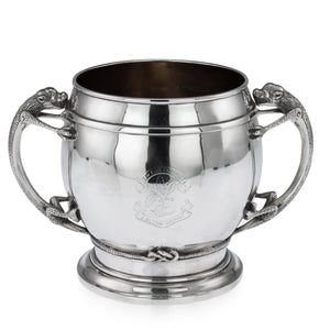 Antique Indian Silver Presentation Cup, New Club, Calcutta, Kolkata India  -  Circa 1900