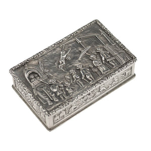 Antique Indian Silver Snuff Box Charak Puja hook Swinging Festival Kolkata 1800-50