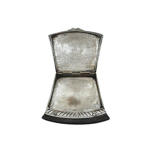 Antique Indian Silver Tinder Boxflint Holder With Flint Cacutta Kolkata India