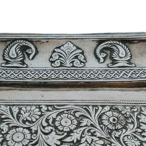Antique Indian Silver Tray India Mughal Circa 1740