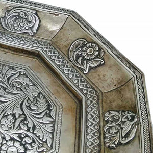 Antique Indian Silver Tray Mughal India C 1740