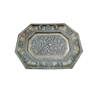 Antique Indian Silver Tray Mughal India Circa 1740
