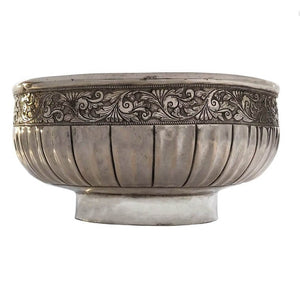 Antique Malay Silver Bowl Malaysia Early 19th Century