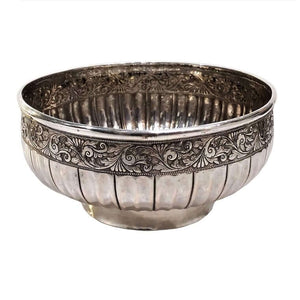 Antique Malay Silver Bowl Mangkuk Jerelok Malaysia Early 19th Century