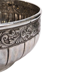Antique Malay Silver Bowl Mangkuk Malaysia Early 19th Century