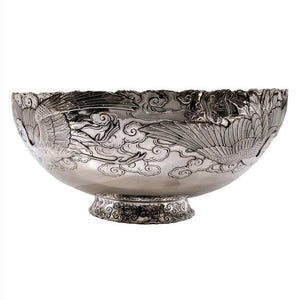 Antique Silver And Gold Mixed Metal Bowl Japan