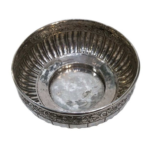 Antique Silver Bowl Mangkuk Jerelok Malaysia Early 19th Century