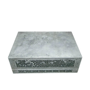 Antique Silver Box Nguyen Dynasty Vietnam Late 19th Century