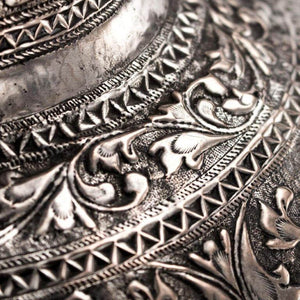 Antique Silver Vases A Pair Sultanate Sumatra Indonesia 19th Century