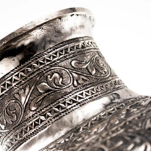 Antique Silver Vases Sumatra Indonesia 19th Century