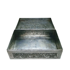 Antique Vietnamese Silver Box Late 19th Century