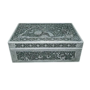 Antique Vietnamese Silver Box Nguyen Dynasty Vietnam Late 19th Century