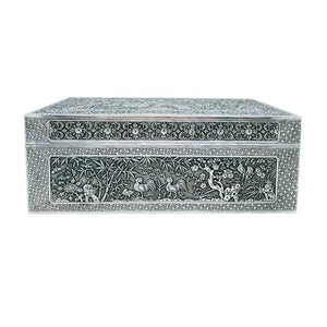 Antique Vietnamese Silver Box Nguyen Dynasty Vietnam